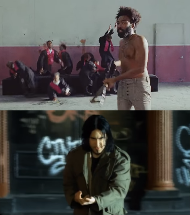childish-gambino-trent-reznor-wielding-assault-rifles-one-real-one-imaginary